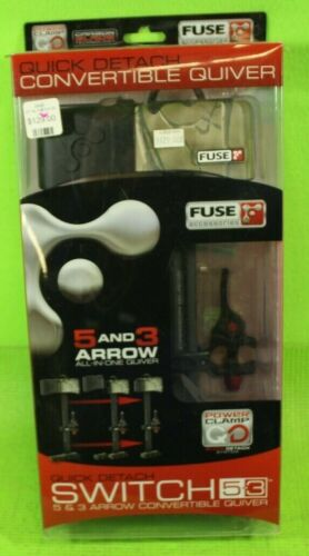 """Fuse Archery """"Switch"""" Quick Detach Convertible 3 or 5 Arrow Quiver, Brand New"""