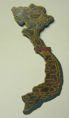 """Vietnam War - """"Beer Can"""" Ouline of Vietnam for Plaque - 4 1/8 inches"""