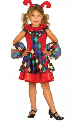 Rubie's Costume Girl's Child Dress Up Medieval Re-enactment Jester Small 4-6 NEW - Girls Jester Costume