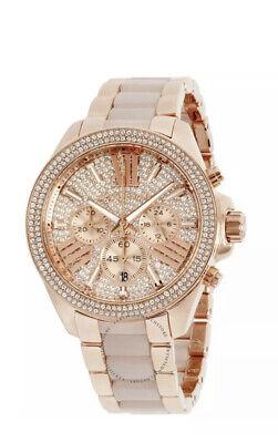 Women's Watch Michael Kors MK6096 'Wren' Luxury Watches Rose Gold Tone
