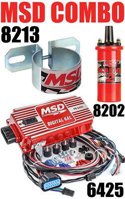 Msd 6al Ignition - MSD 6AL Ignition Kit Digital Box 6425 Blaster 2 Coil 8202 Mounting Bracket 8213
