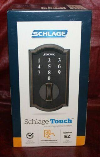 Sealed Schlage Touch Aged Bronze Keyless Touchscreen Deadbolt BE375 V CAM 716
