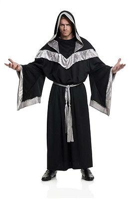 Renaissance Monk Robe - ADULT EVIL SORCERER MEDIEVAL RENAISSANCE PRIEST WIZARD MONK GOTHIC COSTUME ROBE
