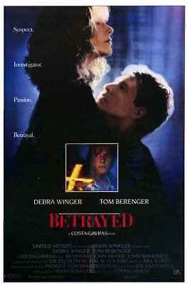 BETRAYED MOVIE (Debra Winger-Tom Berenger) 1988 MOVIE POSTER L-2