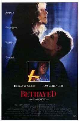 Debra Winger-Tom Berenger BETRAYED 1988 ORIGINAL MOVIE POSTER L-2