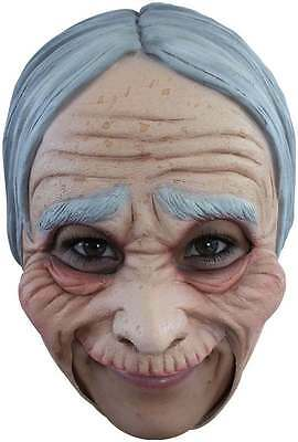 Old Lady Mask Open Mouth Easy Drink Eat Halloween Latex Adult Mask](Easy Halloween Mask)