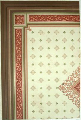 Decke Antik Esszimmer - Dekoration Lithographie 19. Jhd.