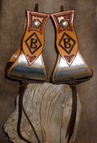 """Custom 4"""" Bell Stirrups For Saddle, Personalized With Your Brand! G&E"""