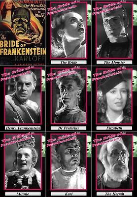 The Bride of Frankenstein movie trading cards. 1935 classic Horror Boris Karloff
