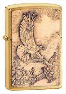 Zippo Windproof Bald Eagle Lighter, Where Eagles Dare, 20854, New In Box