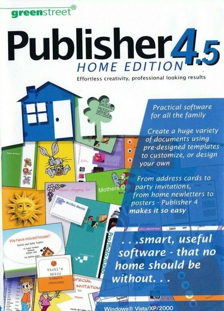 Publisher 4.5 - Desktop Publisher DTP Page Label Layout - PC Software - New