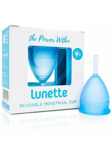 Lunette Reusable Menstrual Cup - Blue - Model 1 for Light Fl