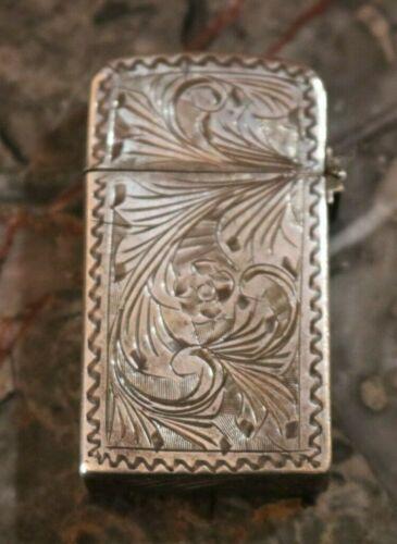 800 Silver Zippo Cigarette Lighter Not Sterling 2517191