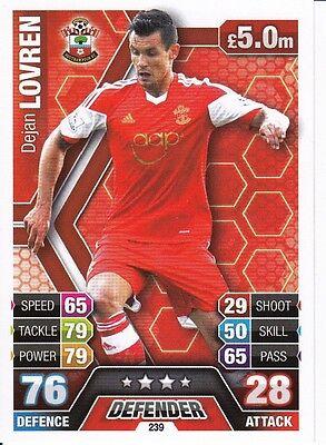 Match Attax Southampton Card 2013 2014 - Defender - Dejan Lovren - 13/14