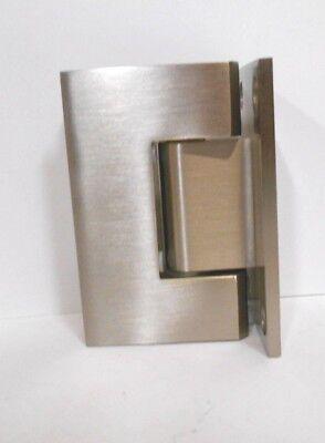 CRL Brushed Nickel Junior Geneva Series Wall Mount Glass Shower Door Hinge