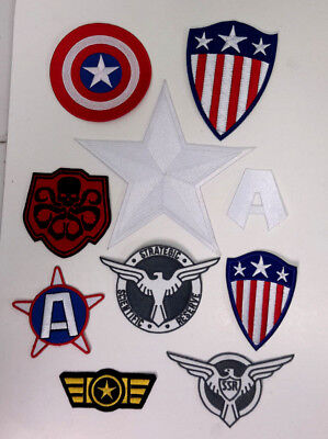 1940s Captain America Costume Patch Collection- Your Choice or Sets](1940 Costume)