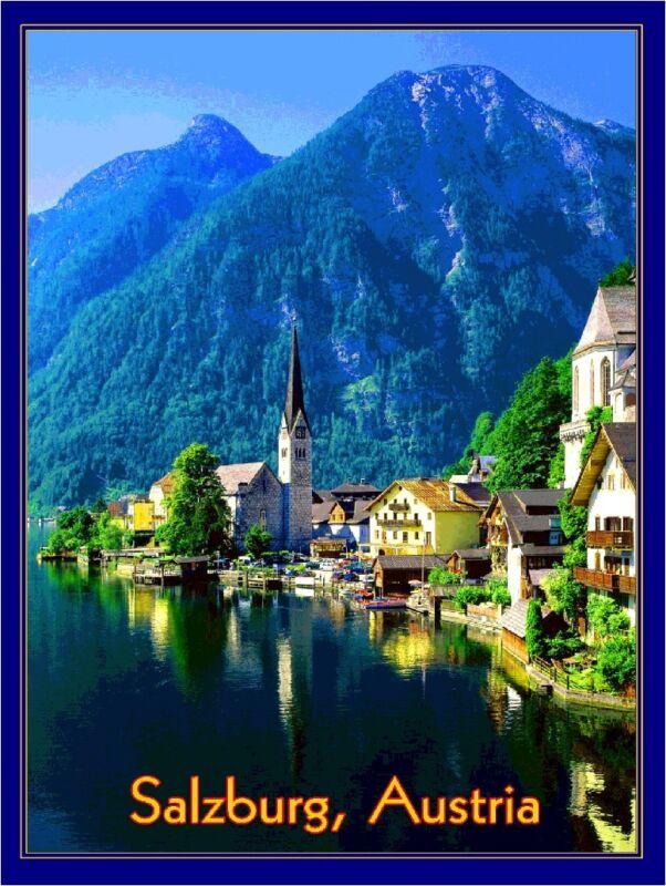 Salzburg Austria Sound of Music European Europe Travel  Advertisement Poster 3