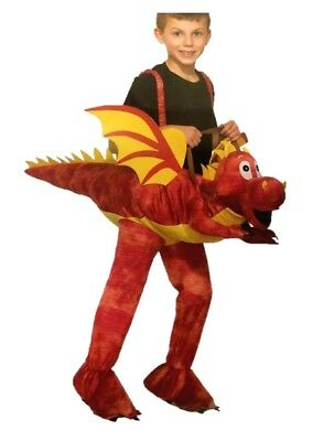 Ride On A Dragon Child Halloween Costume Red Monster Rider Boys Girls Mystical - Dragon Rider Halloween Costume