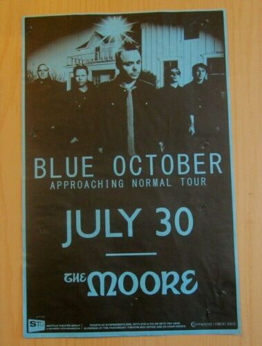 Blue October 2009 Seattle WA Concert Original Show Gig Poster