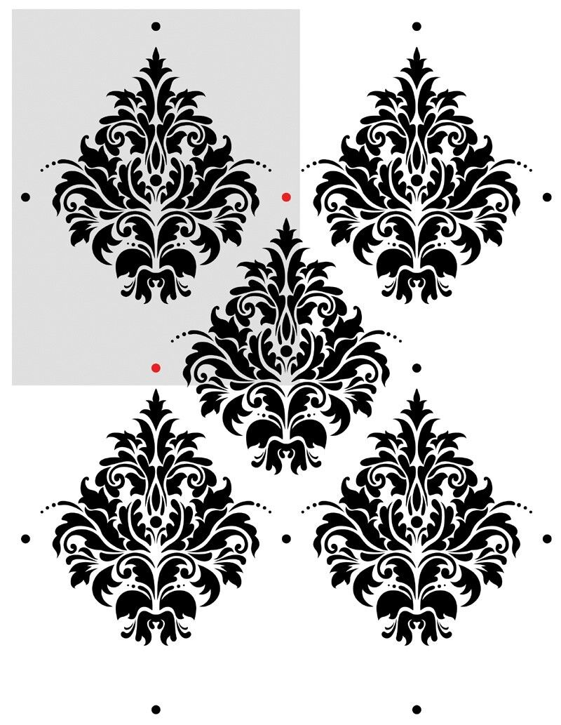 Damask Wall Stencils Maderno For Wall Decor Diy Reusable Stencil