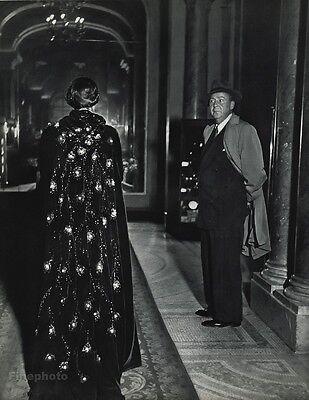 1955 Vintage 16x20 HOTEL CLARIDGE Female Fashion Interior France ROBERT DOISNEAU