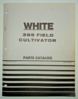 White 385 Field Cultivator Parts Catalog Manual Book Original 176 Wfe