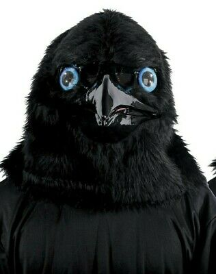 ANIMATED ANIMAL RAVEN MASK WITH MOVABLE JAW