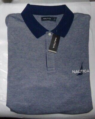 NWT MENS  NAUTICA S/S Pique Mesh Polo Shirt~BLUE~SZ XXL