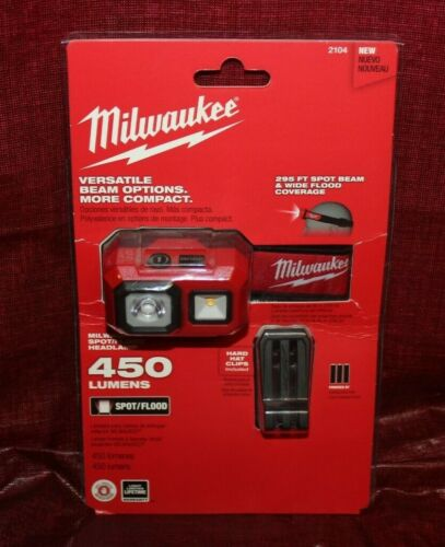Milwaukee 450 Lumen Spot/flood Headlamp (2104)