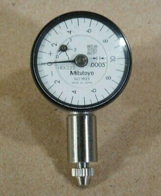 Mitutoyo 1923 Dial Indicator Compact Type 0-.050 Range .0005 Graduation