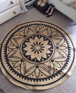 EthniBrand New Eclectic Tangier Circle Jute Floor Rug Petersham Marrickville Area Preview