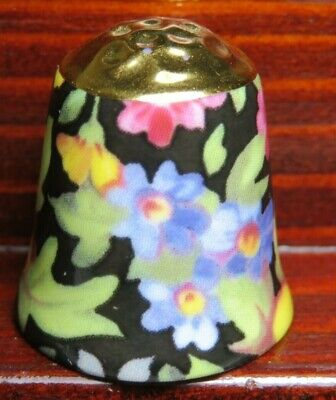 MUSEUM COLLECTION CHINA THIMBLE - SUMMER MEADOW CHINTZ