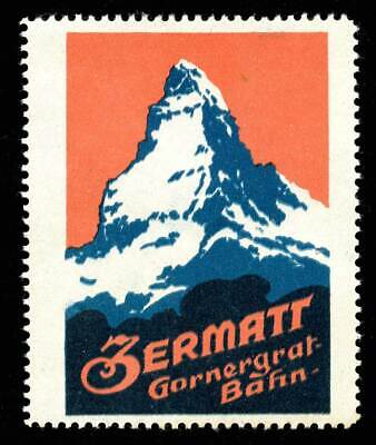 Switzerland Poster Stamp - Publicity - Zermatt - Gornergrat Bahn (Railway)
