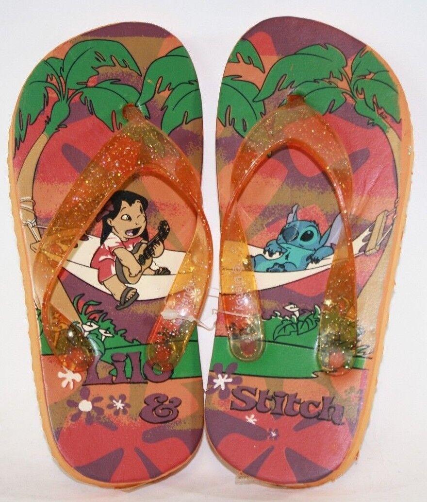 NEW Infant Toddler Kids Disney Lilo & Stitch Orange Glitter