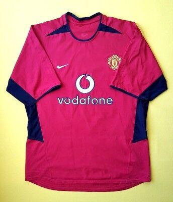 f9bae8293 4 5 Manchester United jersey XL 2002 2004 home shirt Nike soccer football  ig93