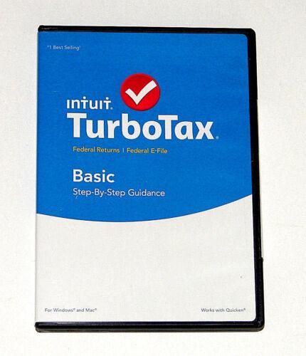TurboTax Basic Federal Return + Federal E-File 2015 Windows|Mac INT940800F039