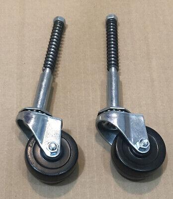 Qty.2 Rolling Ladder Caster 2x1516 Wheel 516 Thread 5-34 Long Wspring