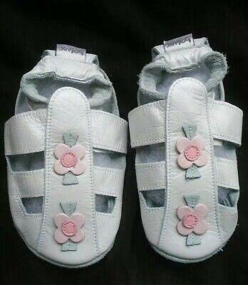 Bobux White Flowers Baby Girl Infant Sandals XL 18-24 months EU 22 UK 5.5 US 6.5