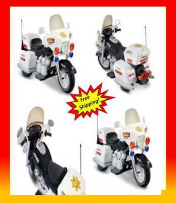 Ride On Police Motorcycle Toy For Kid 12V Battery Powered Electric 3 Wheel Bike