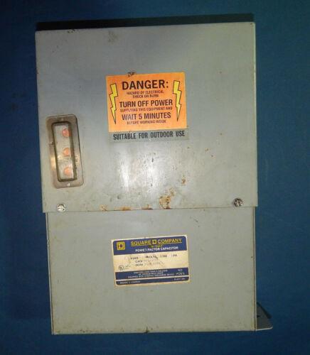 Square D PFCD4007F Power Factor Capacitor 480V 60HZ 3PH 7.5KVAR
