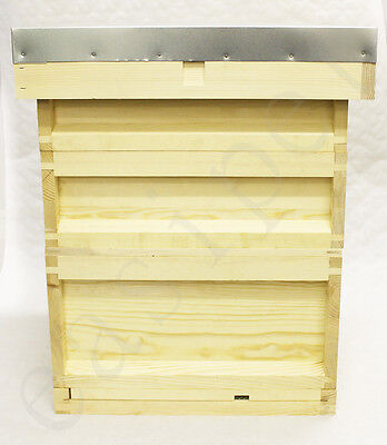 National Bee Hive Bee Keeping Pine New 2 Super 1 Brood Beehive Easipet 436