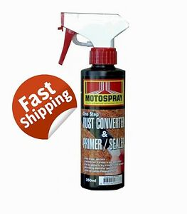 RUST CONVERTER & PRIMER SEALER 250ML ONE STEP AUTO SPRAY MARINE PANELTRAILERS