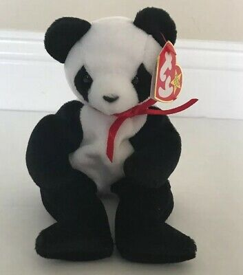 "Ty Beanie Baby ""Fortune"" Panda Bear Retired 12/6/1997 Red Stamp**RARE**"