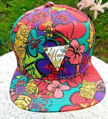 NEW W/O TAGS HATER SNAPBACK TIKI HAWAIIAN ARTWORK HAT