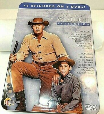 Best Of TV Westerns Collection (DVD, 2009, 4-Disc Set, Collector Tin