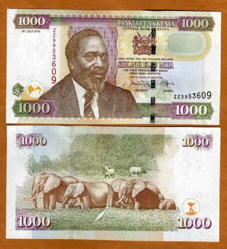 Kenya 1000 shillings, 2010, P-51e, UNC ZZ- REPLACEMENT