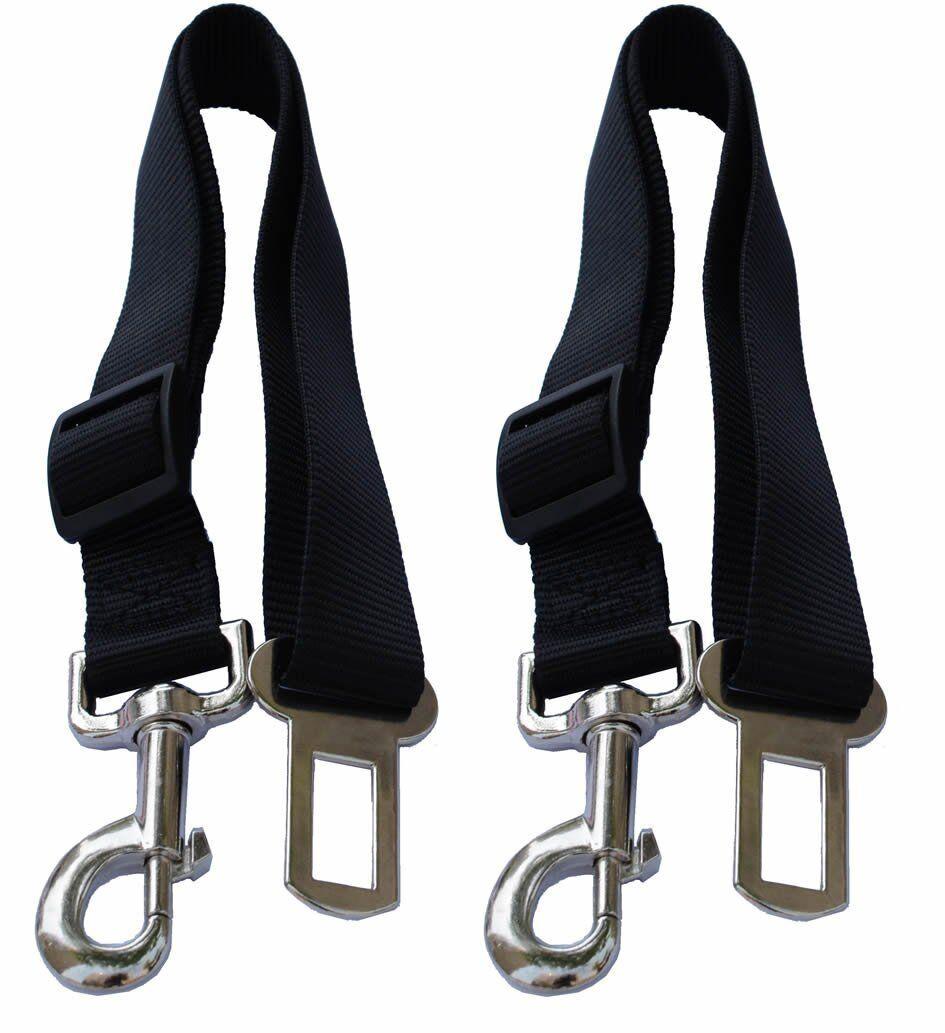 2x Cat Dog Pet Safety Seatbelt for Car Vehicle Seat Belt Adjustable Harness Lead