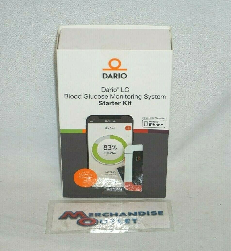 Dario Blood Glucose Meter kit with Strips for iPhone, All-in