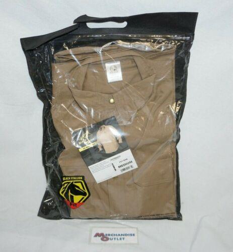 Black Stallion FS7-KHK Khaki FR Cotton Work Shirt (Medium)