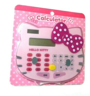 Hello Kitty Digit Pink Cat Calculator Math New